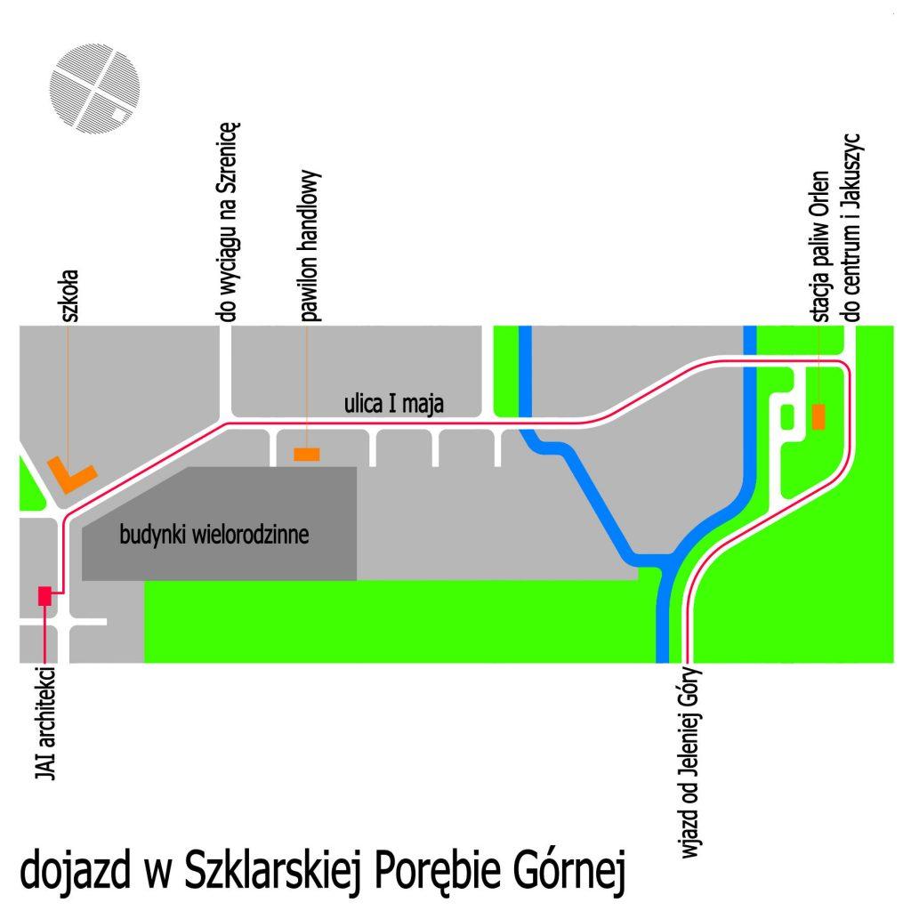 droga dojazdowa do pracowni odwiedź Szklarska Poręba architekt kontakt